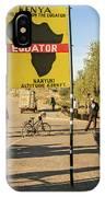 Equator In Kenya IPhone Case