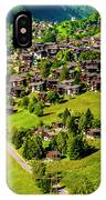 The Alpine Village Of Ernen In Switzerland  IPhone Case