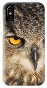Eurasian Eagle Owl Portrait IPhone Case