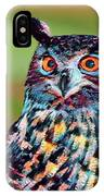 European Eagle Owl IPhone Case