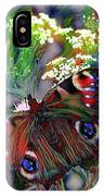 European Peacock Butterfly IPhone Case