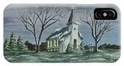 Evening Worship In Winter IPhone Case