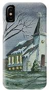 Evening Worship In Winter IPhone Case