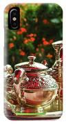 Event - Tea Garden Party Silver Sevice IPhone Case