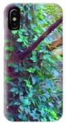 Evergreen Tree With Green Vine IPhone Case