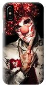 Evil Blood Stained Clown Contemplating Homicide IPhone Case