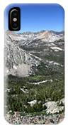 Evolution Lake And Valley Panorama From Darwin Bench - Sierra IPhone Case