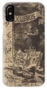Ex-libris De L?on Lerey (ex-libris Of Leon Lerey) IPhone Case