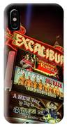 Excalibur Casino Sign Night IPhone Case