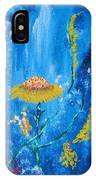 Exotic Colorful Flowers Abstract Composition IPhone Case