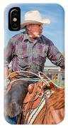 Experienced Cowboy IPhone Case