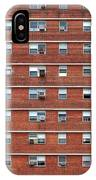 External Facade With Many Windows All Identical. IPhone Case