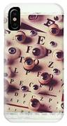 Eyes On Eye Chart IPhone Case