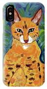 fabulous cat portrait in the style of Van Gogh's IPhone Case