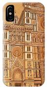 Faced Of Florence Cathedral  IPhone Case