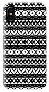 Fair Isle Black And White IPhone Case