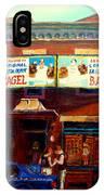 Fairmount Bagel By Montreal Streetscene Painter Carole  Spandau IPhone Case
