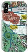 Fairmount Neighborhood Map IPhone Case