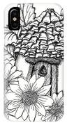 Fairy House With Pine Cone Roof And Daisies IPhone Case