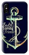 Faith Family Friends Anchor V2 IPhone Case