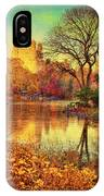 Fall Afternoon In Central Park IPhone Case