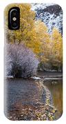 Fall And Winter At Silver Lake IPhone Case