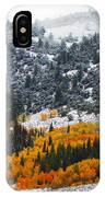 Fall And Winter Collide  IPhone Case