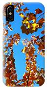 Fall Apricot Leaves IPhone Case