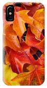 Fall Art Prints Red Orange Yellow Autumn Leaves Baslee Troutman IPhone Case