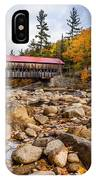 Fall At Albany Covered Bridge IPhone Case