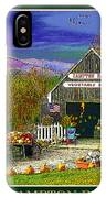 Fall At The Campton Farm IPhone Case