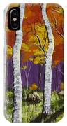 Fall Birch Trees Painting IPhone Case