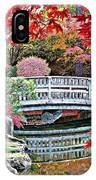 Fall Bridge In Manito Park IPhone Case