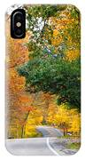 Fall Color Along Road  5643 IPhone Case