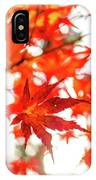 Fall Color Maple Leaves At The Forest In Kochi, Japan IPhone Case