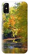 Fall Color On Creek  5597 IPhone Case