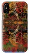 Fall Color Reflected In Thornton Lake Michigan IPhone Case