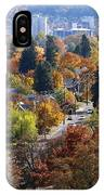 Fall Colors In Spokane From The Post Street Hill IPhone Case