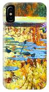 Fall Colors On The Lily Pond IPhone Case