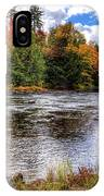 Fall Colors On The Moose River IPhone Case