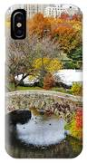 Fall Foliage In Central Park IPhone Case
