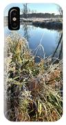 Fall Frost On Grasses Along Nippersink Creek IPhone Case