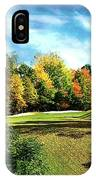 Fall Golf Course Beauty IPhone Case
