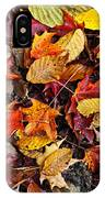 Fall Leaves On Forest Floor IPhone Case