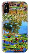 Fall Leaves On Lily Pond IPhone Case