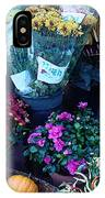 Fall Market Scene In Watercolor IPhone Case