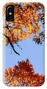 Fall Oak Leaves Up Above IPhone Case