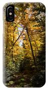 Fall Path In Golden Yellow IPhone Case