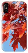 Fall Red Orange Leaves Blue Sky Baslee Troutman IPhone Case