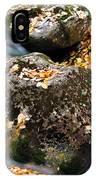 Fall Rushing Mountain Stream IPhone Case